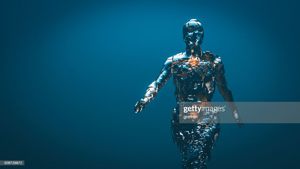 Grob geformte Humanoid Abbildung : Stock-Foto