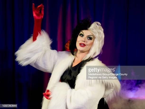 Cruella de Vil makes an appearance in the Conjure a Villain show at Disneyland's Halloween in Frontierland INFORMATION ndisneycarnival Ð 9/19/12 Ð...