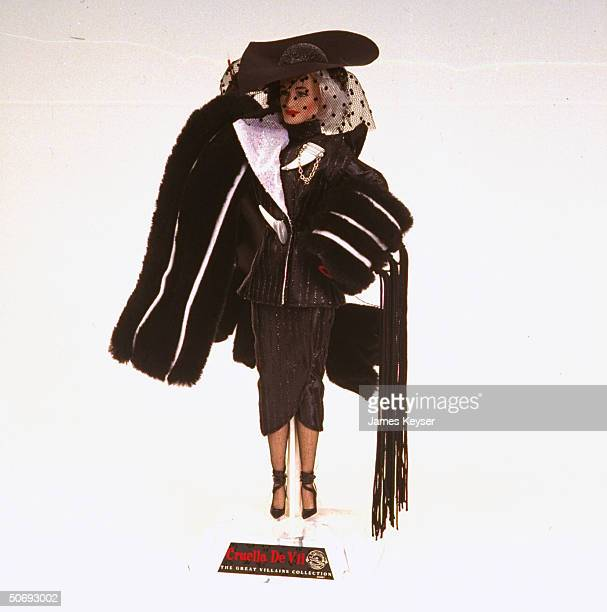 Cruella DeVil doll based on character from new Disney movie 101 Dalmatians remake of 1961 version