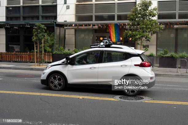 Cruise Chevrolet Bolt experimental self-driving car from automaker General Motors and autonomous car technology company Cruise, driving in the South...