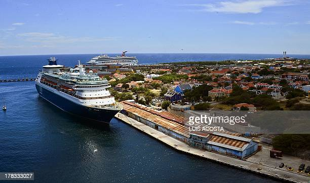 A cruise is seen in the Port of Willenstad Curacao on August 29 2013 AFP PHOTO / Luis Acosta