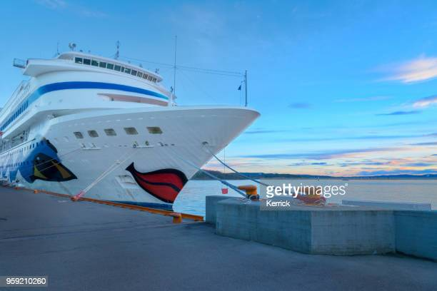 Cruise ship Aida Cara from germany and  Britannia Southampton from P&O Cruises in Stavanger Norway