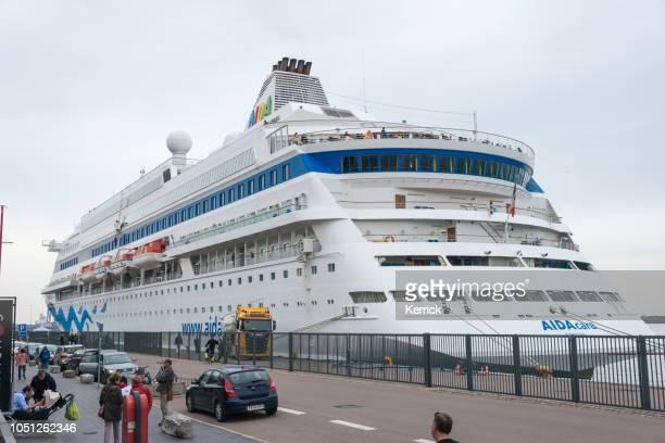 Cruise Ship Aida Cara in the harbor of Copenhagen, Denmark