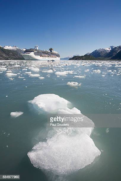 Cruise Ship and Icebergs in Glacier Bay National Park