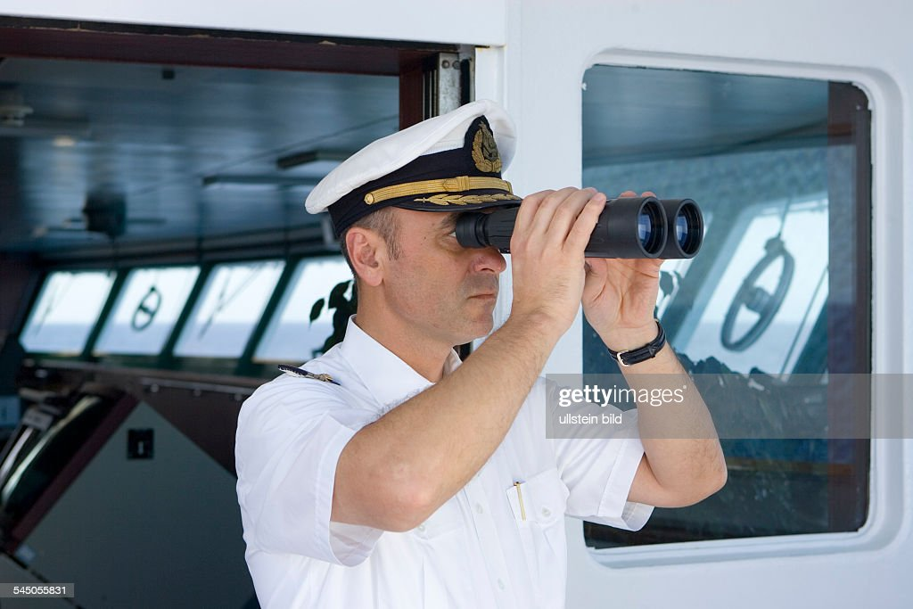 Cruise Ship MS ASTOR Ukrainian Captain Alexander Golubev On The - Captain on cruise ship