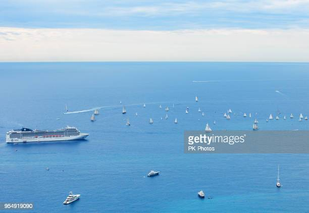 cruise ship at monaco, monte carlo - monte carlo stock pictures, royalty-free photos & images