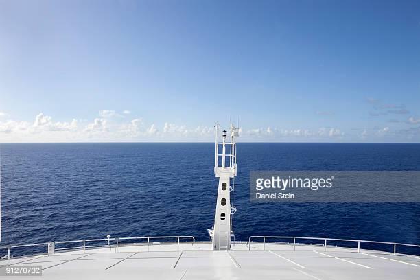Cruise Ship Bow and Ocean