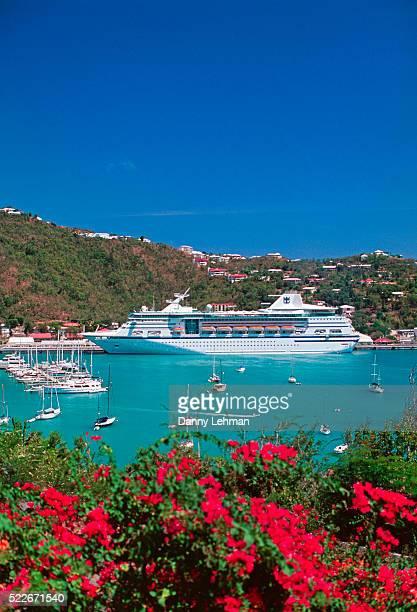 Cruise ship docked at Charlotte Amalie on St. Thomas