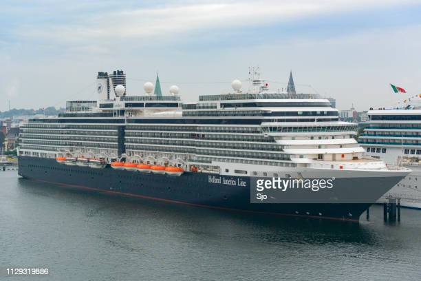 cruise ship ms eurodam of the holland america line moored in the port of kiel in german - dalsland stock photos and pictures