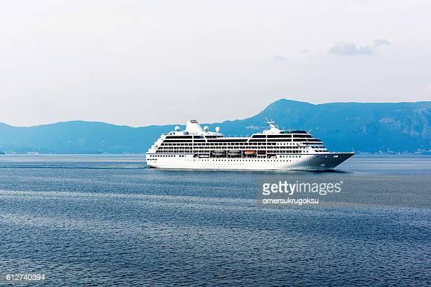 Cruise ship in Corfu, Greece