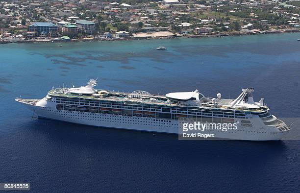 Cruise ship in George Town on 24 April 2008 in Grand Cayman Cayman Islands