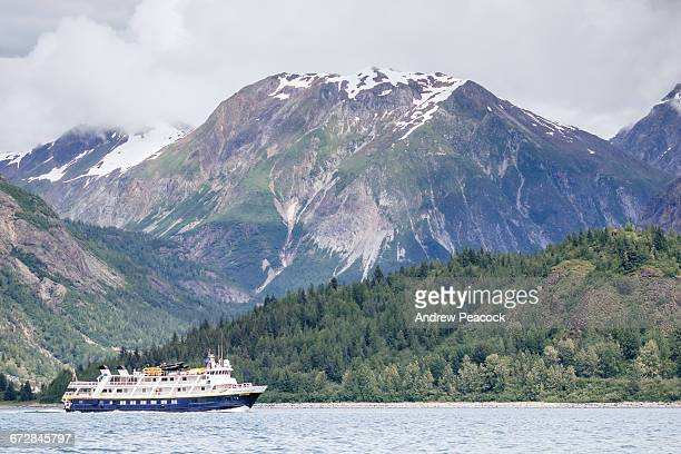 A cruise ship in Glacier Bay National Park