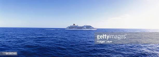 Cruise ship in Indian Ocean