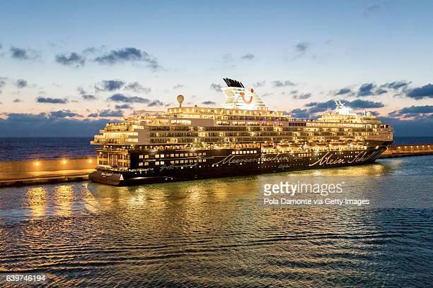 Cruise ship in the mediterreanea sea