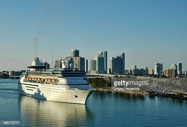 CONTENT] Cruise ship in the port of Miami Florida USA