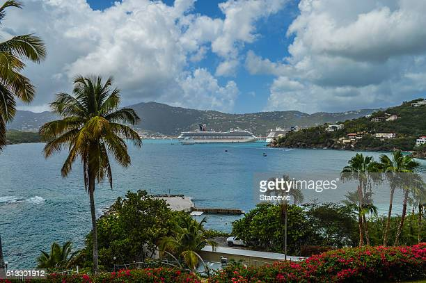 Cruise ship in the tropical Virgin Islands