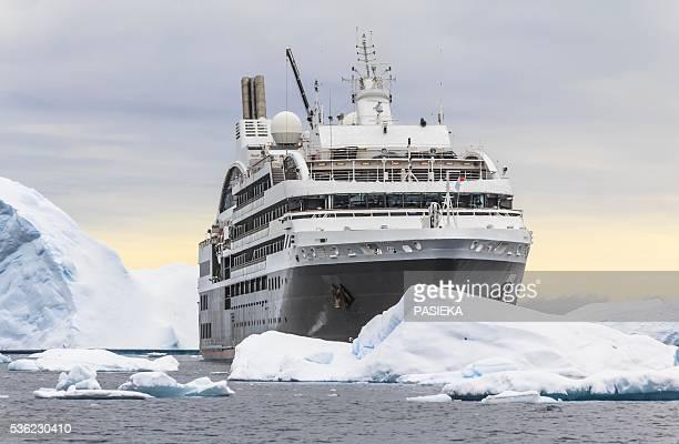 Cruise ship L'Austral sailing Antarctica.