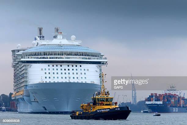 クルーズ船を出発し、ロッテルダムの港