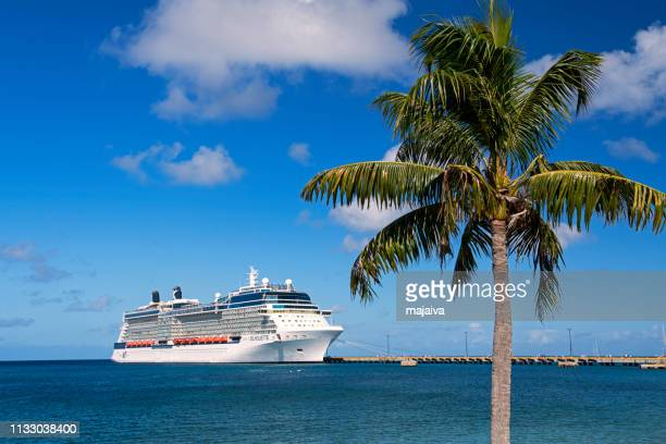 Cruise ship moored in St. Croix, Us Virgin Island