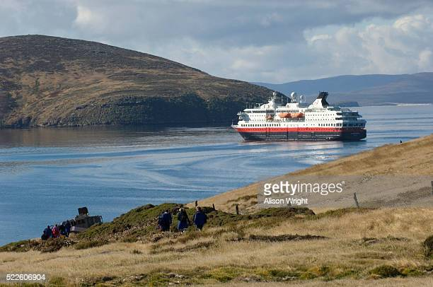 Cruise Ship Nordnorge at New Island in the Falklands
