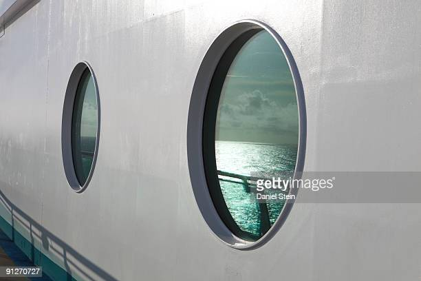 Cruise Ship Port Hole Close Up