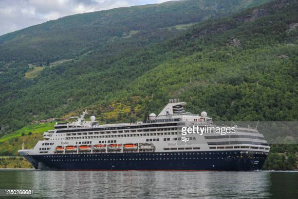 "cruise ship ryndam of the holland america line in the aurlandsfjord in norway during a beautiful summer day - ""sjoerd van der wal"" or ""sjo"" stock pictures, royalty-free photos & images"