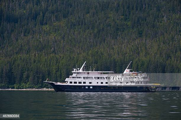 Cruise ship Safari Endeavour near George Island off Chichagof Island Tongass National Forest Alaska USA