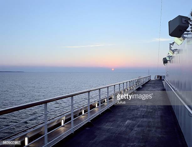 Cruise Ship Sailing Out to Sea