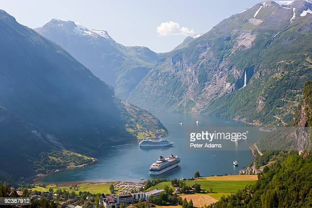 Cruise ships, Geirangerfjord, Norway