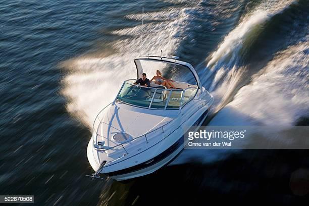 Cruiser 30 Foot Powerboat Running at Speed