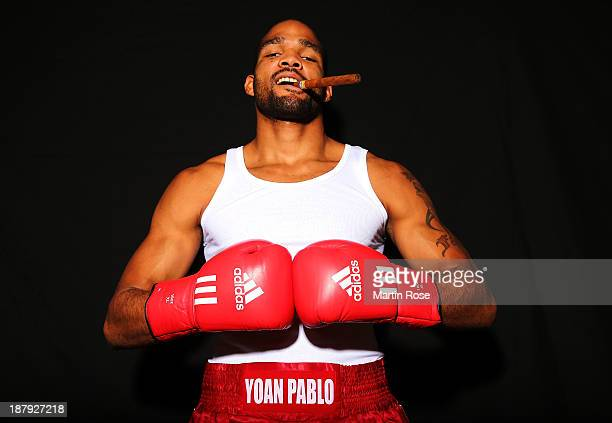Cruiserweight fighter Yoan Pablo Hernandez of Cuba poses during a portrait session on November 12 2013 in Berlin Germany