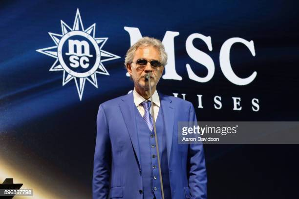 Cruises announced a brand new partnership with the Andrea Bocelli Foundation on December 21 2017 in Miami Florida
