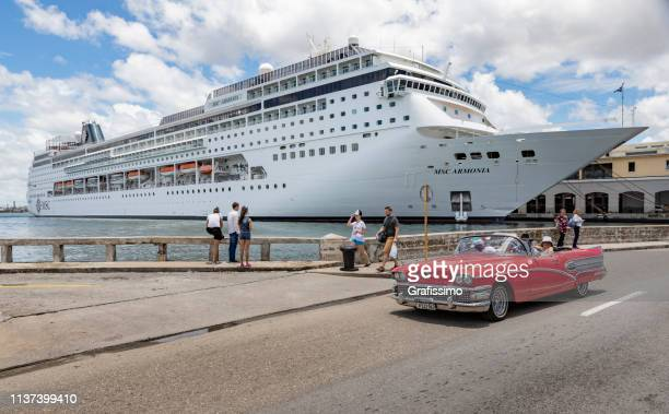 MSC Cruises Armonia Cruise Ship at harbor of Havana Cuba