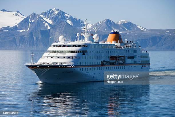 Cruiseship MS Columbus (Hapag-Lloyd Kreuzfahrten) during North Sea voyage.
