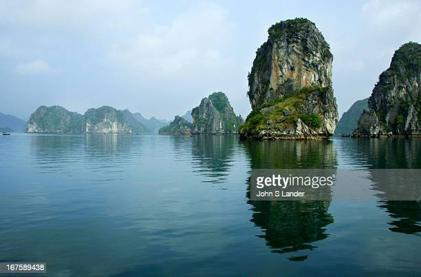 Cruising Halong Bay on one of the hundreds of overnight junks is one of the main attractions of northern Vietnam A UNESCO World Heritage Site since...