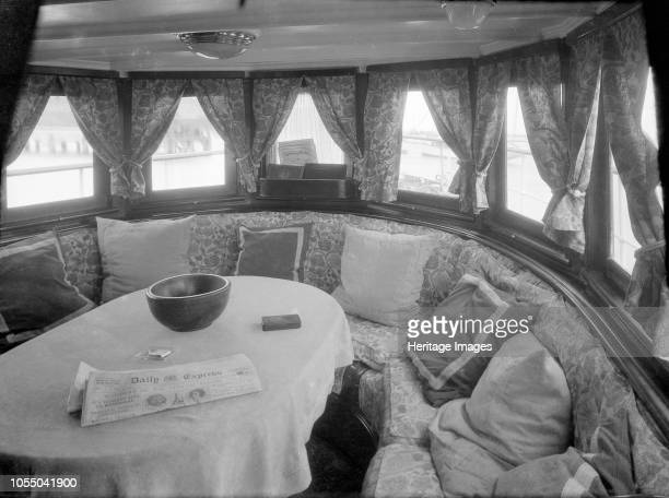 Cruising in comfort the saloon of motor yacht 'Scaramouche' 1927 Artist Kirk Sons of Cowes