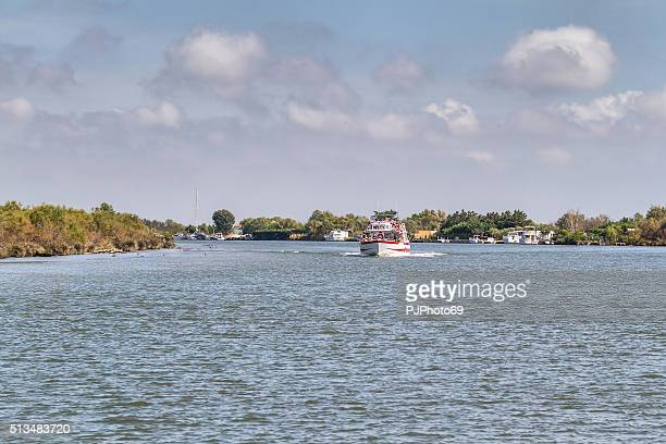 cruising in rhone river - camargue - france - rhone stock pictures, royalty-free photos & images