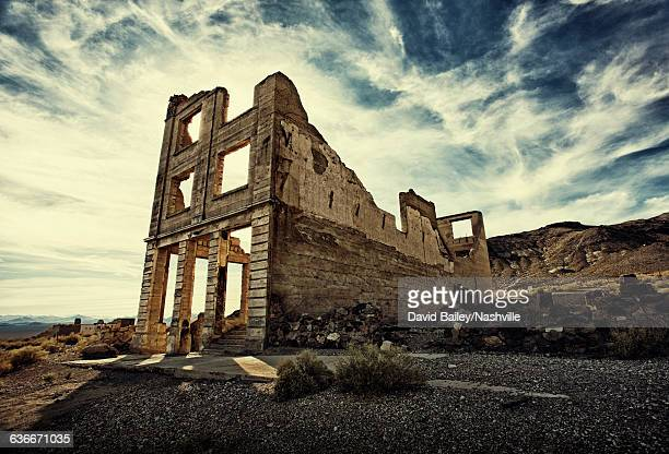 Crumbling Building In Rhyolite