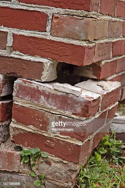 Écroulent s'effondrer brique Foundation échec: Échec pilon des articulations