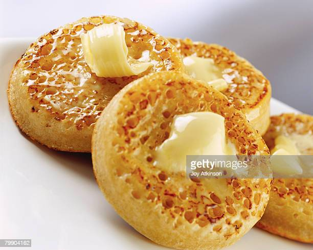 Crumpets With Melted Butter