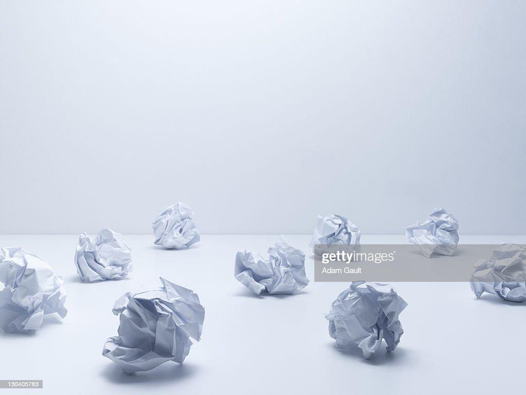Crumpled balls of paper : Stock Photo