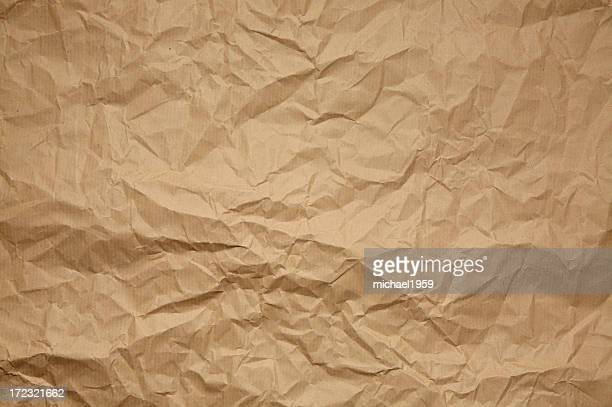 Crumpled brown paper pattern or background