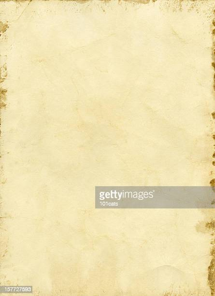 crumpled old handmade paper