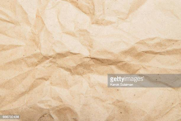 crumpled paper background and texture - parchment stock pictures, royalty-free photos & images