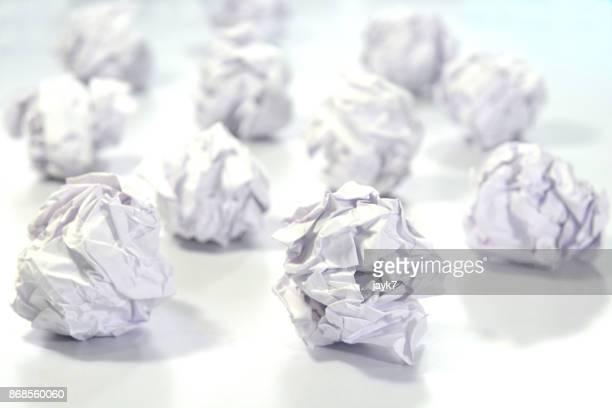 Crumpled Paper Balls