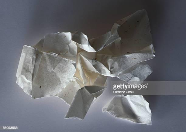 Crumpled paper, close-up