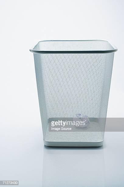 Crumpled paper in the bin