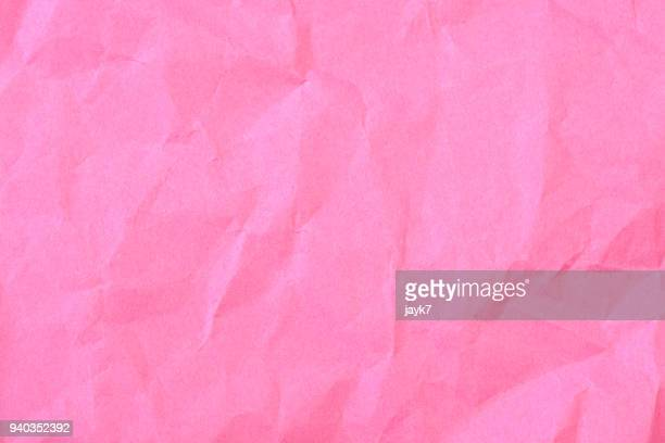 crumpled paper - pink background stock pictures, royalty-free photos & images