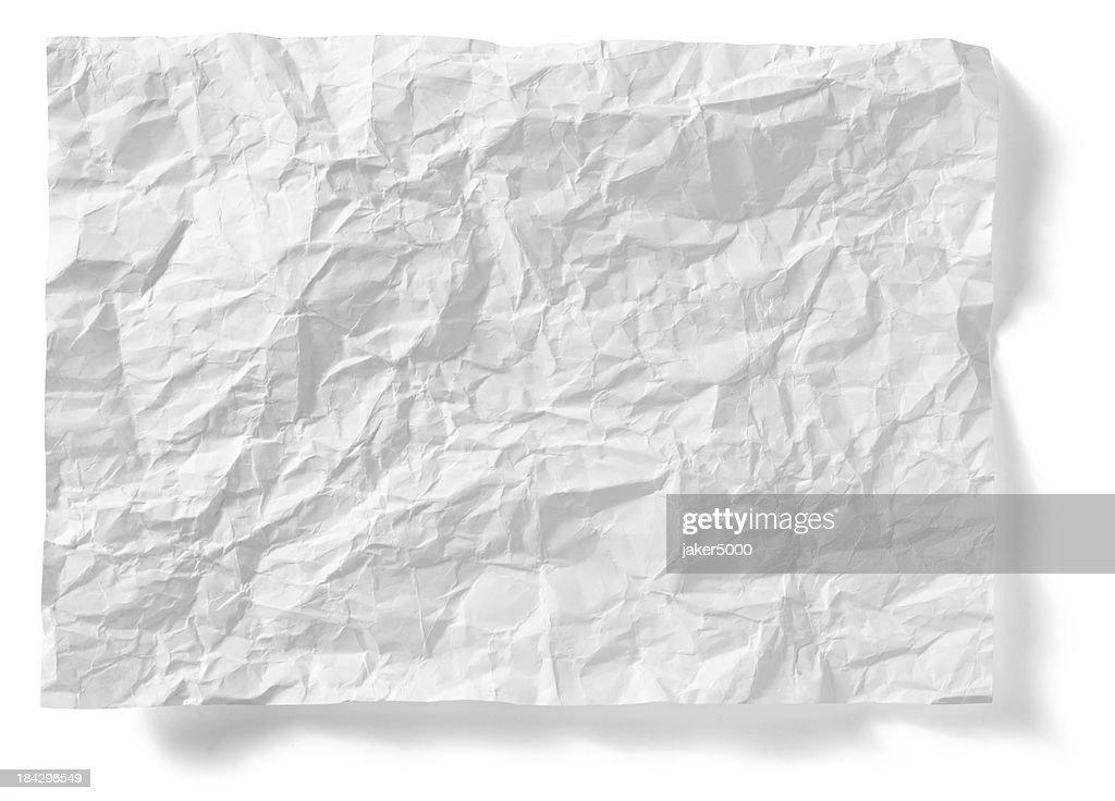 Crumpled paper sheet : Stock Photo