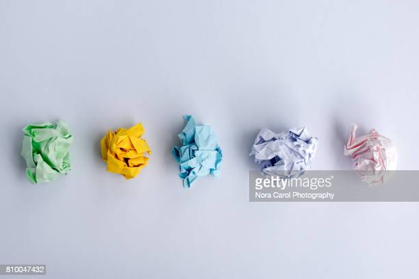 crumpled papers ball - burden stock pictures, royalty-free photos & images